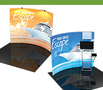 10' Formulate Tension Fabric Displays - Horizontal Curved
