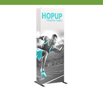 2.5' Hopup Tension Fabric Displays