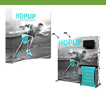 7.5' Hopup Tension Fabric Displays