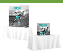 Tabletop Hopup Tension Fabric Displays